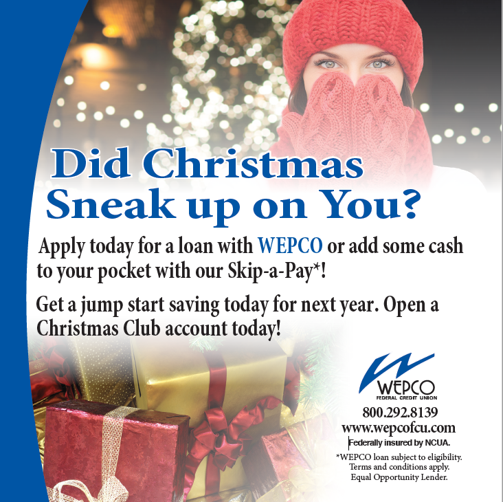 Apply for a Christmas Loan or Open a Christmas Club today.